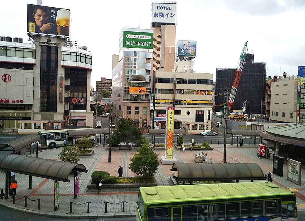 盛岡駅からの景色