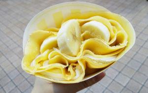 スイーツパールレディのキャラメルバナナホイップクレープ