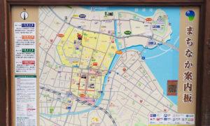 唐津市内のまちなか案内板