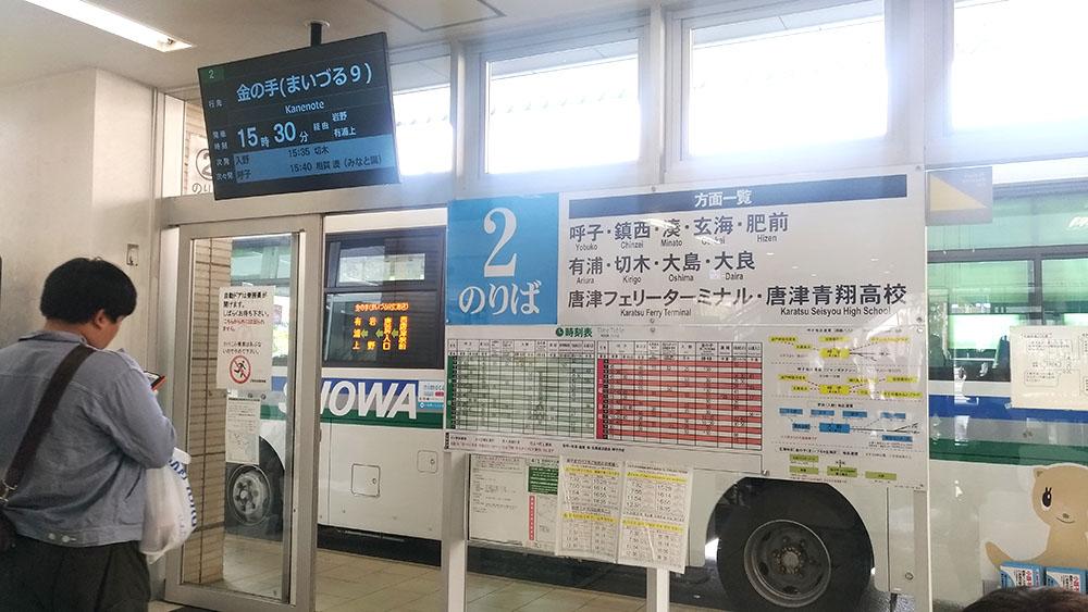 唐津バスセンター(大手口)の2番のりば