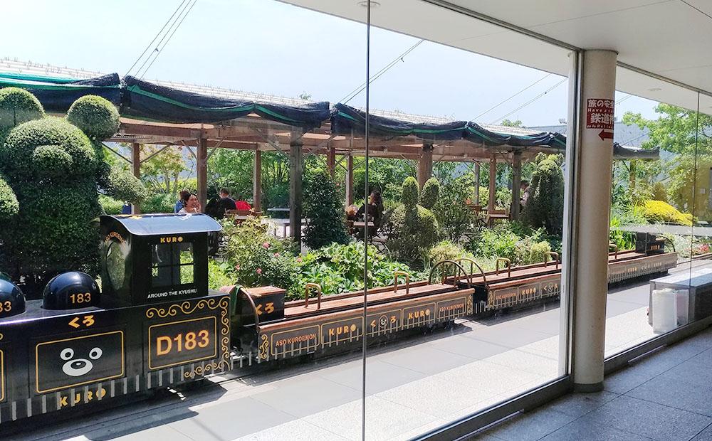 つばめの杜ひろばにある電車の乗り物