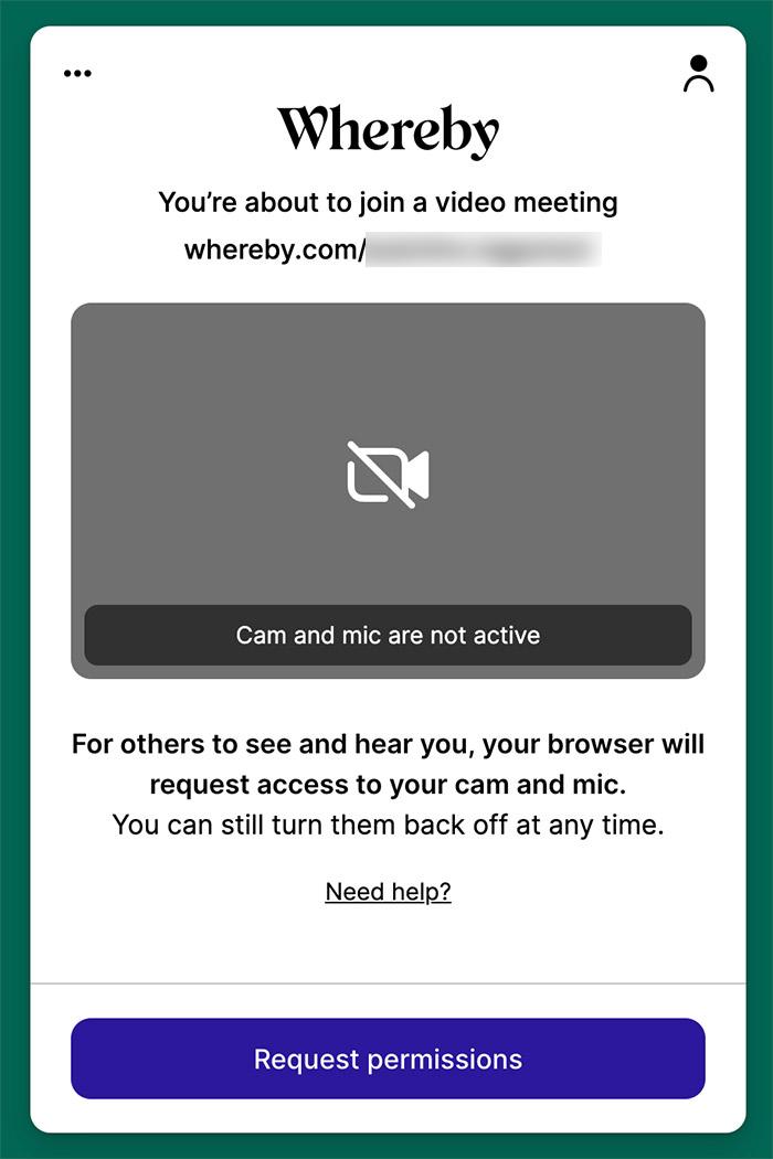 Web会議サービス「Whereby(ウェアバイ」に招待された時の使い方