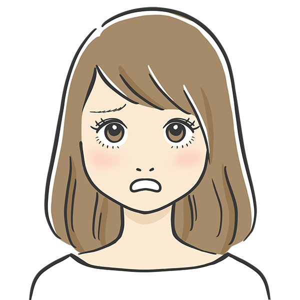 ショックな表情の似顔絵イラスト