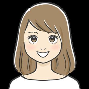 にっこりな表情の似顔絵イラスト
