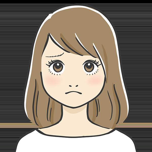 うーんな表情の似顔絵イラスト