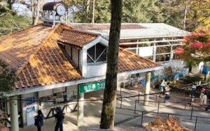 リフト乗降場所の山上駅