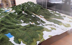 高尾ビジターセンター内の模型