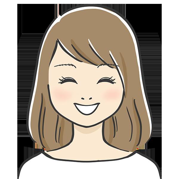にっこり笑顔の似顔絵イラスト