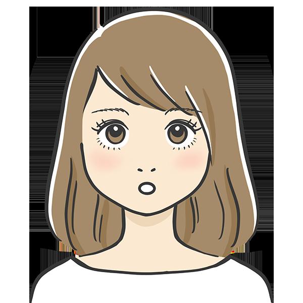 ぽかーんとした表情の似顔絵イラスト