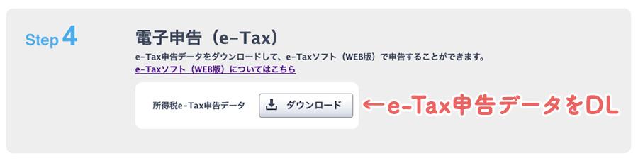 やよいの青色申告オンラインの確定申告画面の電子申告(e-Tax)