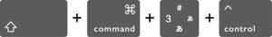 画面全体をスクリーンショットでクリップボードにコピーするMacのショートカットキー